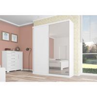 Quarto De Solteiro Completo Virtual Com Espelho Branco 176 Cm