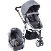 Carrinho De Bebê Safety 1St Travel System Mobi Ts Até 13Kg - Unissex-Cinza