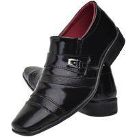 Sapato Social Torrenezzi Tradicional Elástico Calçar Preto Verniz