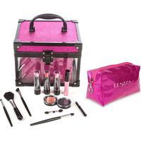 Maleta De Maquiagem Fenzza Fz-Mt97Pk-D Make Up Clear Pink