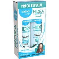 Kit Salon Line Hidra Super Liso Shampoo + Condicionador - Unissex-Incolor