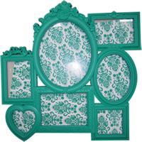 Porta Retrato 52X52 Romantic Frames Verde