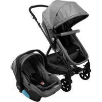 Carrinho De Bebê Com Bebê Conforto Cosco Poppy 0 A 15Kg - Unissex-Cinza