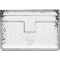 Tom Ford Porta-Cartões Metálico Com Placa De Logo - Cinza
