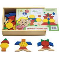 Mosaico Geométrico Em Madeira Com 100 Peças - Fundamental