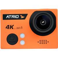 Câmera Atrio Fullsport 4K Wifi - Lente Angular 160º - E/S Micro Usb - Laranja/Preto