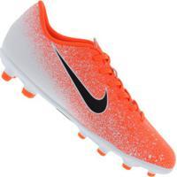 Chuteira De Campo Nike Mercurial Vapor 12 Club Mg - Adulto - Laranja/Branco