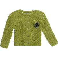 Casaco Tricot Bebê - Feminino-Verde