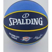 Bola De Basquete Spalding Nba Oklahoma City Thunder - Unissex-Azul