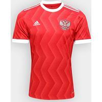 Camisa Seleção Rússia Home 2017 S/Nº - Torcedor Adidas Masculina - Masculino