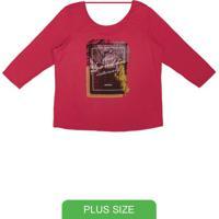 Blusa Com Abertura Nas Costas Vermelho