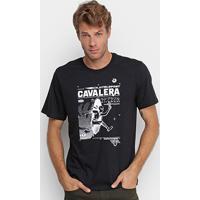 Camiseta Cavalera Ninja Teleport Masculina - Masculino-Preto
