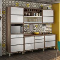 Cozinha Compacta Baronesa 7 Pt 8 Gv Branca E Marrom