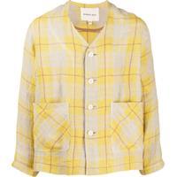 Nicholas Daley Camisa Xadrez Com Dois Bolsos - Amarelo