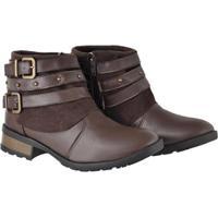 Bota Couro Montaria Atrative Boots Feminino - Feminino-Café