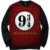 Blusa Bsc Hogwarts Express Full Print - Masculino-Preto
