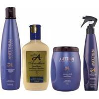 Kit Aneethun Linha A 1 Shampoo 300Ml + 1 Creme 250Ml + 1 Máscara 500G + 1 Spray 150Ml - Unissex-Incolor