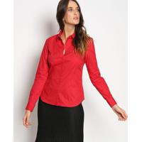 Camisa Lisa Com Bordado - Vermelhavip Reserva