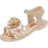 Sandália Bebê Plis Calçados Beijinho Feminina - Feminino-Bege+Dourado