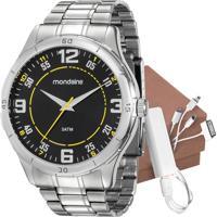 Kit Relógio Mondaine Masculino Com Carregador 99056G0Mvne2K1