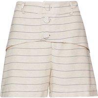 Shorts Em Linho Areia