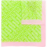 Dolce & Gabbana Lenço Com Estampa De Logo - Verde
