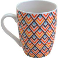 Caneca Macrame Colorida 330 Ml