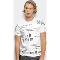 Camiseta All Free Estampada Masculina - Masculino-Branco