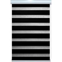 Persiana Rolô Em Poliéster Rainbow Zebra 160X160Cm Preta