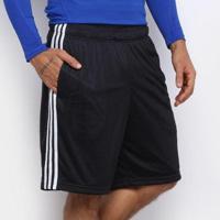 Bermuda Adidas Essentials 3S Mesh Masculina - Masculino-Preto+Branco