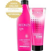 Redken Proteção Da Cor Mega Mask Kit - Shampoo + Máscara De Hidratação Kit - Unissex-Incolor