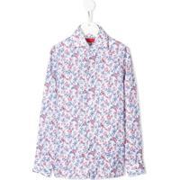 Isaia Kids Camisa Com Estampa Floral - Branco