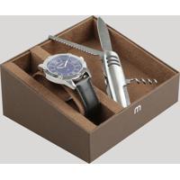 Kit De Relógio Analógico Mondaine Masculino + Canivete - 83393G0Mvnh1Ka Prateado - Único