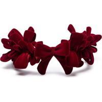 Yvmin X Shushu/Tong 3D-Print Bow Headband - Vermelho