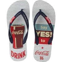 Chinelo Coca Cola Yes! Masculino - Masculino
