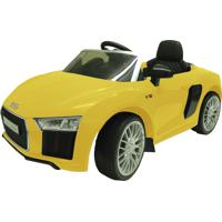 Carrinho Elétrico Infantil Xalingo Audi R8 Amarelo C/ Controle Remoto