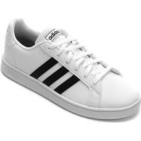 Tênis Infantil Adidas Grand Court - Unissex-Branco+Preto