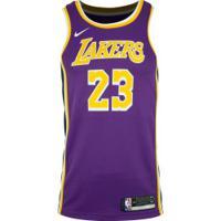 Camisa Regata Nike Los Angeles Lakers Lebron James 23 - Masculina - Roxo