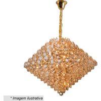 Lustre Diamond- Cristal & Dourado- 56Xã˜78Cm- Bivhevvy