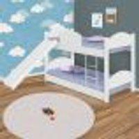 Beliche Infantil Com Colchões E Escorregador Divaloto Branca