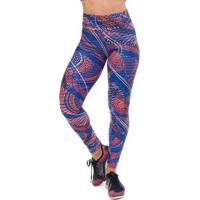 Legging Authentic Lines Up Sandy Fitness - Feminino-Azul Royal