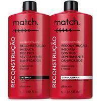 Combo Match Sos Reconstrução: Shampoo 1L + Condicionador 1L