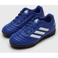 Chuteira Adidas Performance Infantil Copa 20 4 Society Jr Azul
