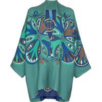Rianna + Nina Kimono Estampado 'Agnes' - Green