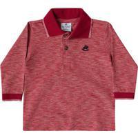 Camisa Polo Bebê Vermelho