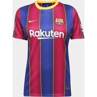 Camisa Barcelona Home 20/21 S/N° Torcedor Nike Feminina - Feminino