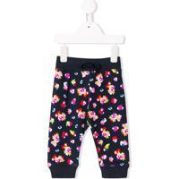 Kenzo Kids Calça Com Padronagem Floral - Azul