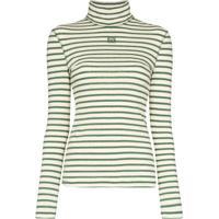 Loewe Blusa Gola Alta Com Listras - Verde