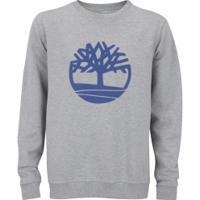 Blusão De Moletom Timberland Basic Crew Ii - Masculino - Cinza
