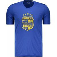 Camisa Numer Brasil Escudo Masculina - Masculino